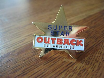 Outback Steakhouse Restaurant Super Star Pin Pinback
