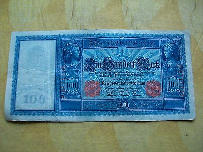 100 Marks, German - Germany Reichs Banknote. Dated 1910.