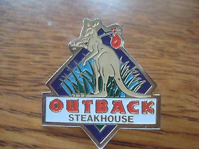 Outback Steakhouse Restaurant Hobo Kangaroo Pin Pinback