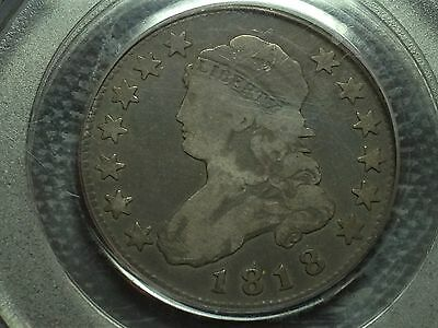 1818  PCGS  F-12   Capped Bust Quarter   Nice Coin