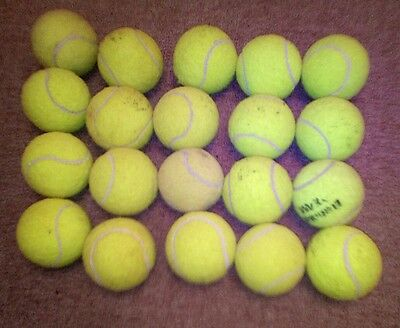 20 used tennis balls ideal for dog toys