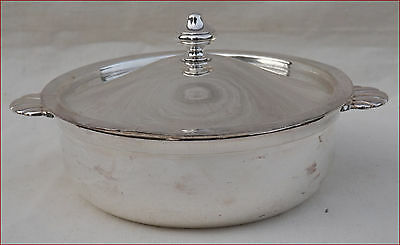 French Silverplate Tureen Vegetable Lidded Dish SOH Paris Vintage