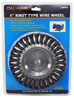 """6"""" KNOTTED WIRE WHEEL 6"""" Knot Type Wire Wheel for BENCH GRINDER Arbor size 5/8"""""""
