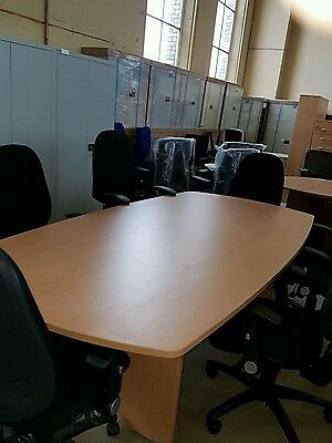 New boardroom conference table 2.4m x1.2m  and  six black chairs