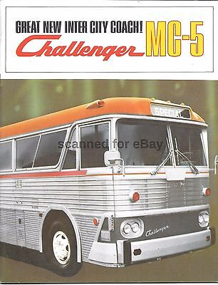 Mci Mc-5 Challenger Bus Sales Brochure Motor Coach Industries