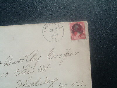 1894 Chartiers,Pa.,F.R.McGrew,(M.D.),Mansfield Valley,Pa.,Postmark,Cover/stamp!