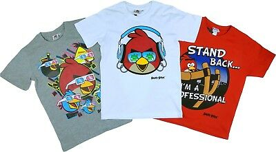 De Niño Angry birds camiseta Verano manga corta EN ROJO AGES 9-10 to 12-13 YEARS