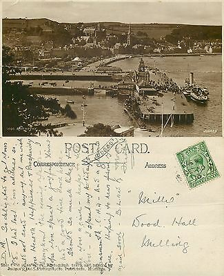 s08147 Pier, Rothesay, Isle of Bute, Scotland RP postcard posted 1913 stamp