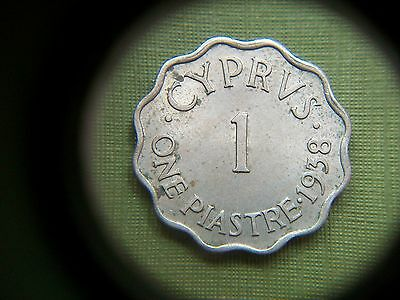 1938, Cyprus, 1 Piastre Coin.