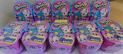 Shopkins 2017 Lot Of 10 Blind Mystery Easter Baskets Look 4 Limited Metallic Egg