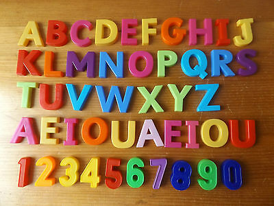 46 Magnetic Plastic Letters And Numbers