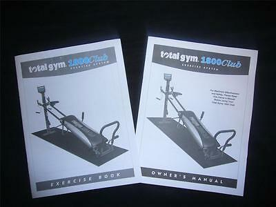 Total Gym Exercise Book AND Owner's Manual for 1800 Club