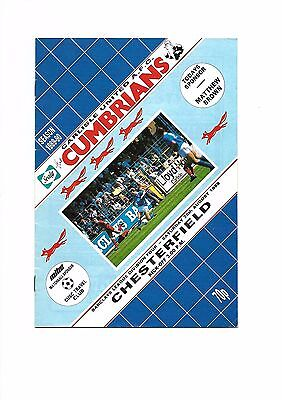 Carlisle United  v  Chesterfield, 26th August 1989