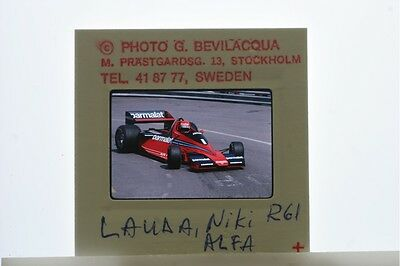 Vintage photo of Niki Lauda in race competition.
