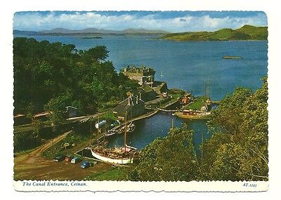 Crinan - a larger format, photographic postcard of the Canal Entrance