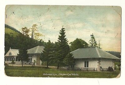 Llanwrtyd Wells - a colour-added, photographic postcard of Dolecoed Spa
