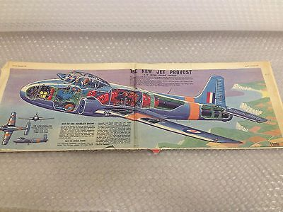 THE NEW JET PROVOST  Eagle Comic Cutaway Centre Page Fold Out