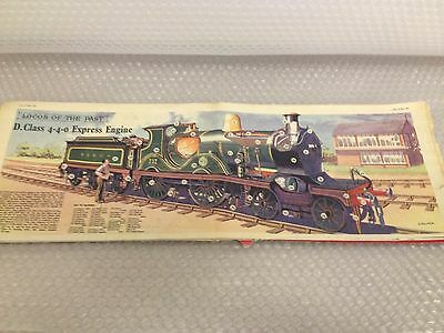 D CLASS 4-4-0 EXPRESS ENGINE LOCO  Eagle Comic Cutaway Centre Page Fold Out