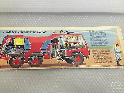 MODERN AIRPORT FIRE ENGINE Eagle Comic Cutaway Centre Page Fold Out