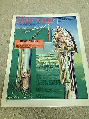 THE FLIP SHIP Eagle Comic Cutaway Full Page Colour A3 in size