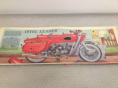 ARIEL LEADER MOTORBIKE  Eagle Comic Cutaway Centre Page Fold Out