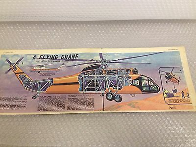 A FLYING CRANE WESTMINSTER HELICOPTER Eagle Comic Cutaway Centre Page Fold Out