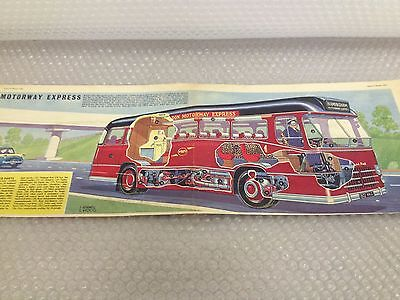 MOTORWAY EXPRESS COACH Eagle Comic Cutaway Centre Page Fold Out