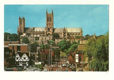 Lincoln - a photographic postcard of the Cathedral