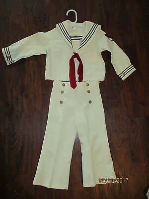 VINTAGE good lad TODDLERS BOYS SAILOR OUTFIT -3T