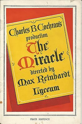 """1932 CHARLES B.COCHRAN'S """"THE MIRACLE"""" with * LEONIDE MASSINE * TILLY LOSCH *"""
