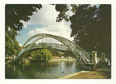 Bedford - larger format, printed, photographic postcard of the Suspension Bridge
