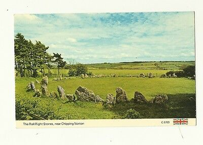 Chipping Norton - a photographic postcard of the Right Roll Stones
