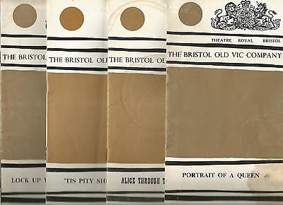 Collection Of Four Bristol Old Vic Programmes From The Sixties
