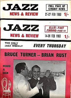 1963 Jazz News & Review *wednesday Jazz Weekly * Four February/march Editions