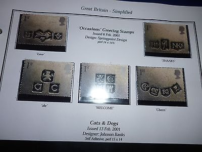 G B 2001 Occasions Set Mint Unmounted Stamps