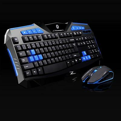 Gaming wireless 2.4G keyboard and Mouse Set to computer Multimedia Gamer