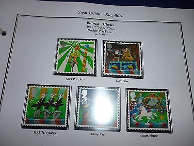 G B 2002 Circus Set Mint Unmounted Stamps