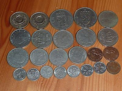 Norway - 10 Kroner To 1 Ore Coins - 1937 To 2002 - 24 Great Coins