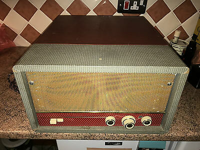 Valve Record Player,60's,As Found,For Restoration,BSR Autochanger,Amp Shows Life