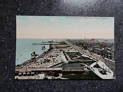 Early postcard - Gt Great Yarmouth from revolving tower - Norfolk