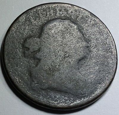 No Date 1808 US Half Cent Draped Bust Hay Penny Antique U.S. Currency Old Money