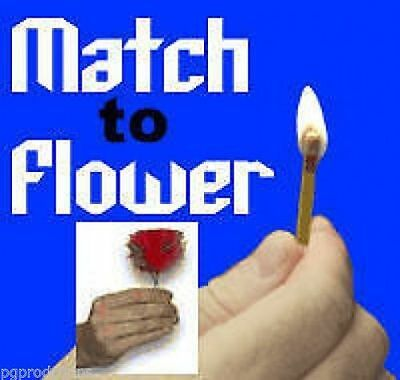 MATCH TO FLOWER Magic Trick Fire Flame Feather - NEW!
