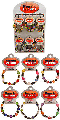 1p AUCTION ~ 10 x Great Quality Elastic BEAD BRACELETS in assorted colours