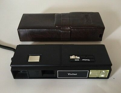 Vintage Vivatar 600 Pocket Camera With Case Untested