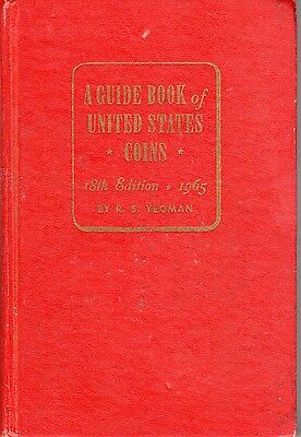 1965 Guide Book Of U.s. Coins Red Book 18Th Edition