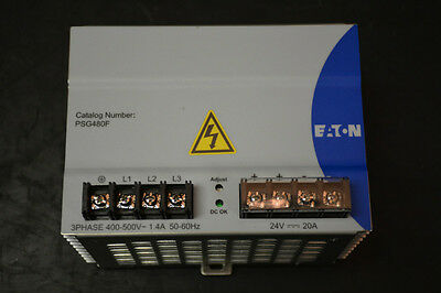 Eaton PSG480F DC Power Supply (Vin: 3PH / 480V, Vout: 24V/20A)
