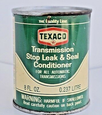 Texaco Can New Unused Transmission Stop Leak & Seal Conditioner Vintage Can