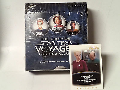 "STAR TREK VOYAGER ""Quotable"" Factory Sealed Box of Trading Cards! 24 Packs"
