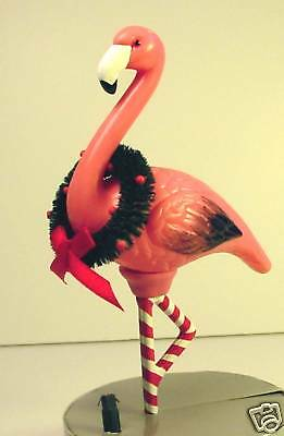 "PINK FLAMINGO LIGHT-UP ORNAMENT 6"" Clip-On Tree or Wreath Dept 56 Holiday New!!"