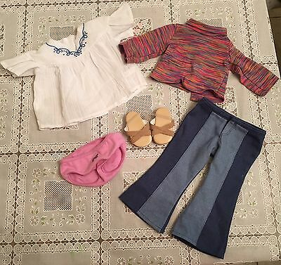 American Girl Doll Julie classic meet outfit pants Shirts Underwear Shoes Set